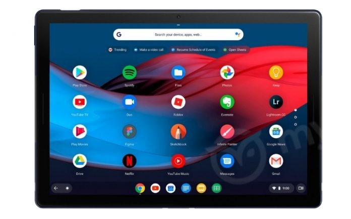 New images of Google's Pixel Slate tablet show off a USB-C port and round keys
