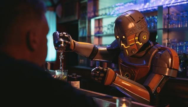 Is Asimov's first law enough to keep a robot bartender from harming others?