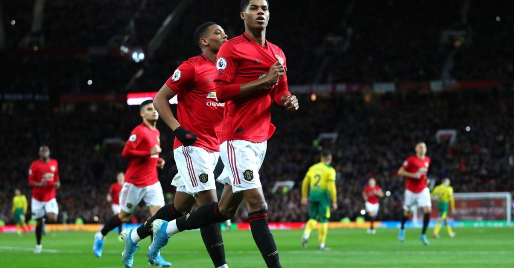 Manchester United striker Marcus Rashford raises £20 million to feed local school kids