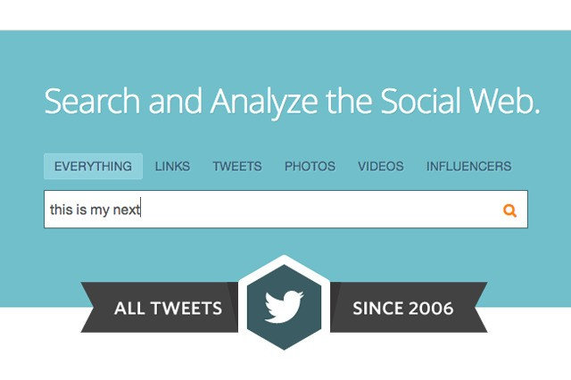 Topsy lets you search every tweet ever sent