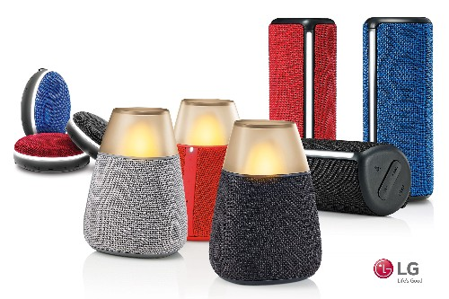 LG employs wacky designs for its new Bluetooth speakers