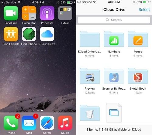 iOS 9 has a hidden iCloud Drive app