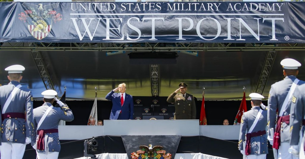 Trump's West Point speech contradicts one of the biggest themes of his presidency