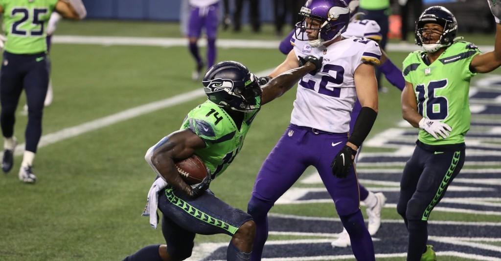Russell Wilson's game-winning touchdown pass to DK Metcalf was a study in weird goofs