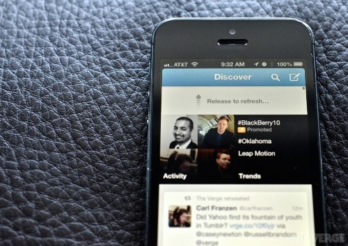 Twitter granted patent on pull-to-refresh, promises to only use it defensively