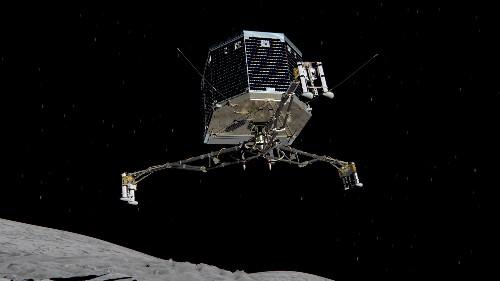 See the Philae lander descend onto a comet