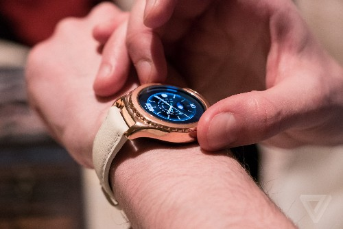 Samsung's gold Gear S2 smartwatch ships for a fraction of the price of Apple's