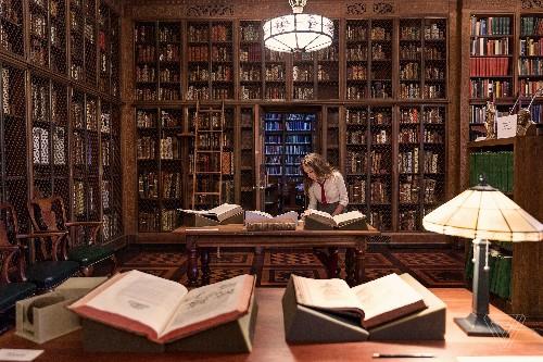 Celebrating 20 years of The Philosopher's Stone inside the mini-Hogwarts in New York City