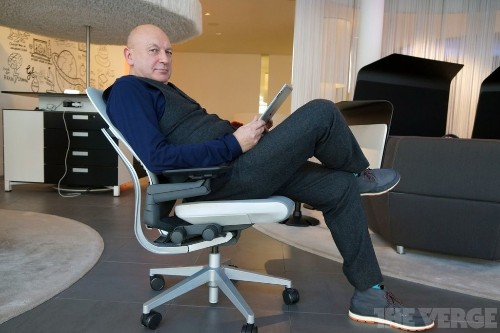 How do you design a chair for the iPad age?