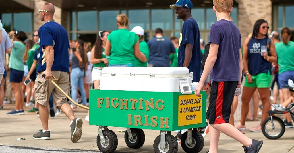 Are You Planning on Tailgating at Home for Notre Dame Football Games?