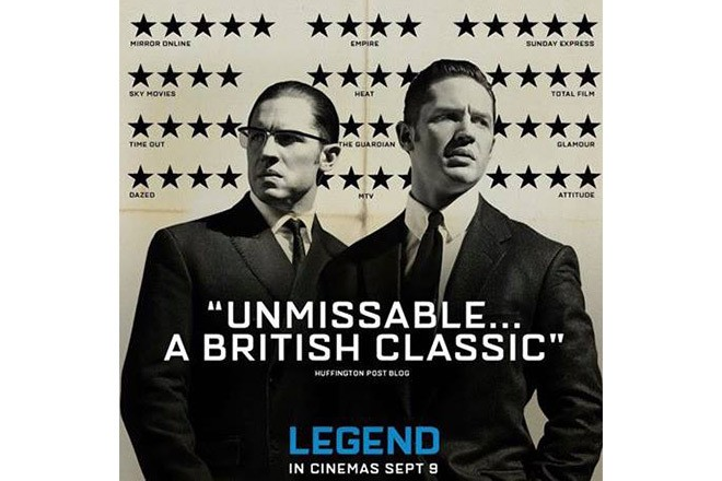 The Legend movie poster is as ingenious as it is deceptive