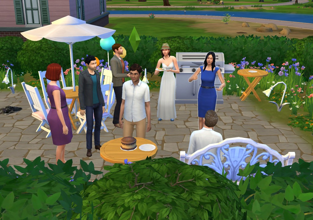 I threw my boyfriend his birthday party on The Sims because we couldn't have one in real life