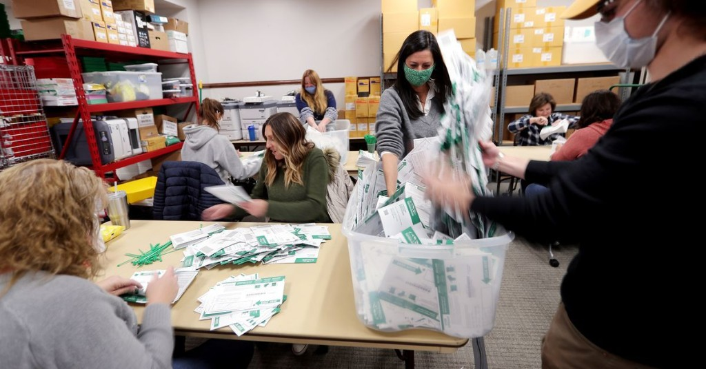 Utah ballots pouring back in one week before Election Day