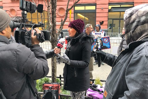 Laura Loomer protested her permanent ban at Twitter NYC (again)