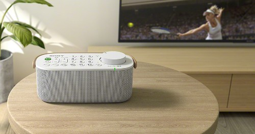 This Sony remote control is also a portable speaker