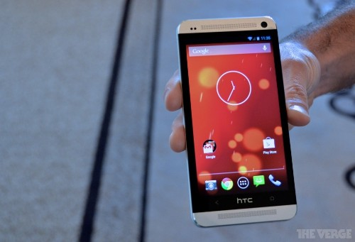 HTC One with stock Android hands-on