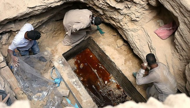 The black mystery sarcophagus was opened, and now people want to drink its 'bone juice'