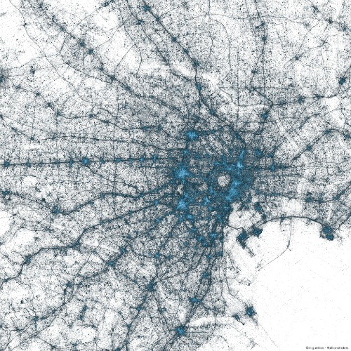 Twitter turns geotagged tweets into art