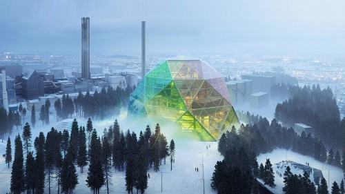 This Swedish power plant will warm hearts with rainbows