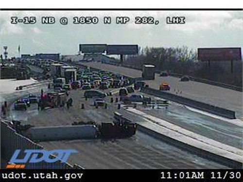 I-15 shutdown near Lehi caused havoc for drivers for most of Saturday