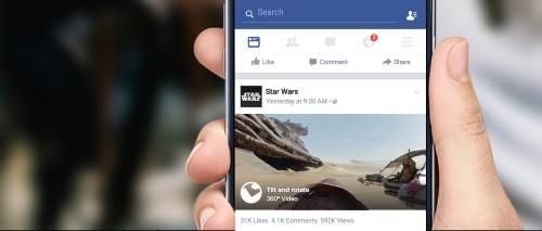 Facebook's 360-degree News Feed videos arrive on iOS