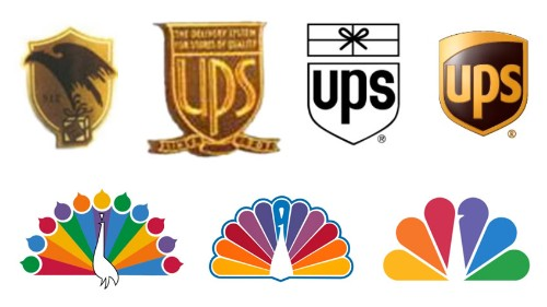 Watch the evolution of logos for Apple, NBC, and other world-famous brands