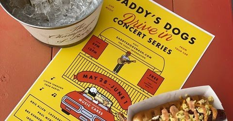 Daddy's Dogs Hosts Free Socially Distanced Drive-in Concert Series This Weekend