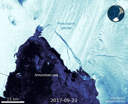 An iceberg four times the size of Manhattan broke off a glacier in Antarctica