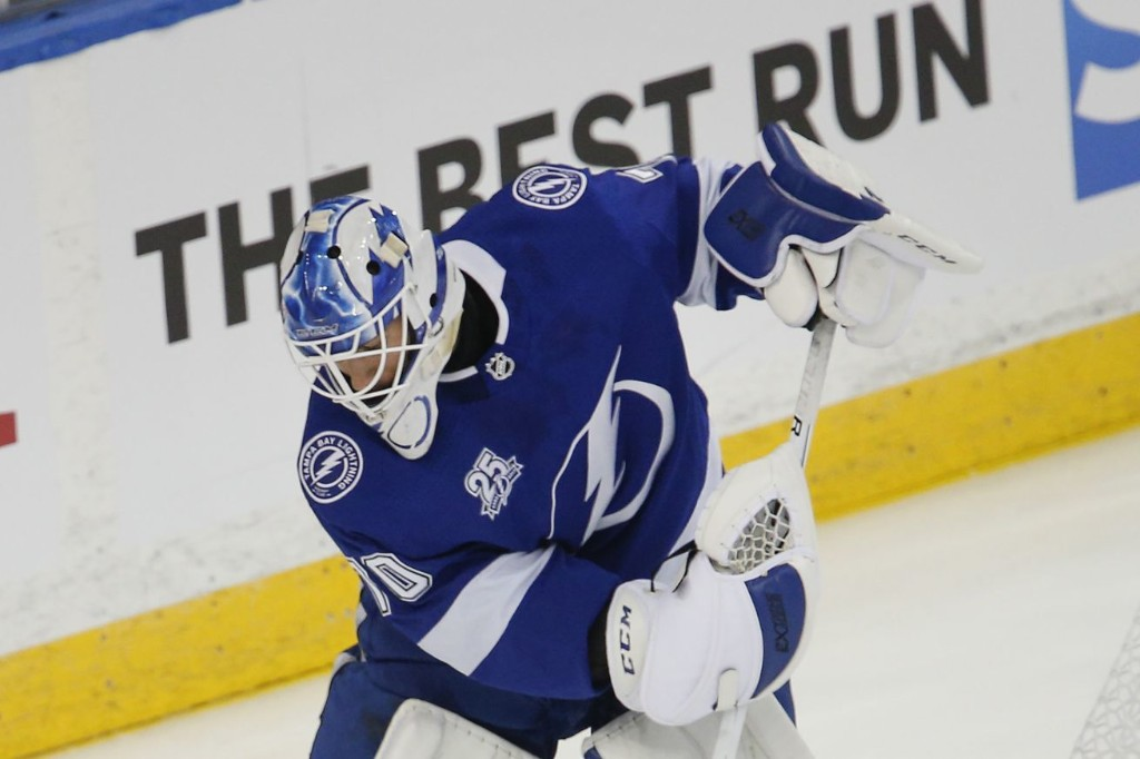 Tampa Bay Lightning re-sign Louis Domingue to two-year contract