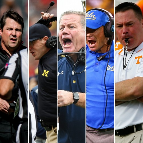 College football coaches can be kicked out of games now. Let's guess who'll be 1st!