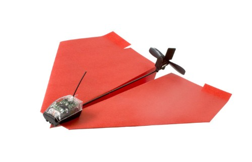 Turn a regular paper plane into a smartphone-controlled drone