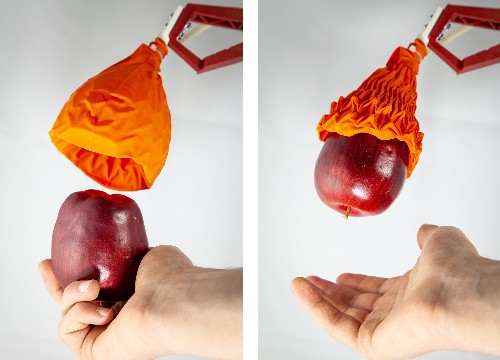 This robot gripper looks like a wilted flower, but it can lift 100 times its weight
