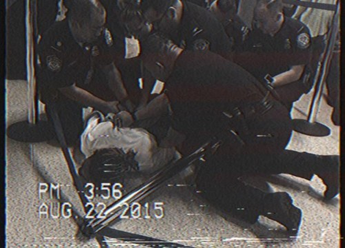 Wiz Khalifa forced to the floor and handcuffed for riding a 'hoverboard'