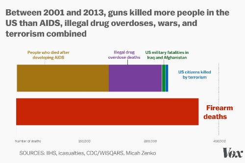 Guns killed more Americans in 12 years than AIDS, war, and illegal drug overdoses combined