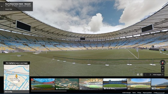 Google puts all 12 World Cup stadiums, other parts of Brazil in Street View