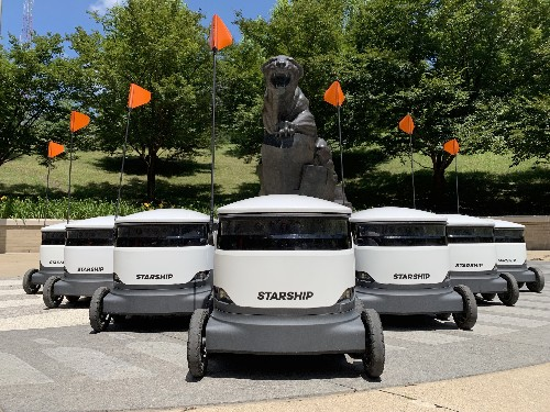 Thousands of autonomous delivery robots are about to descend on US college campuses