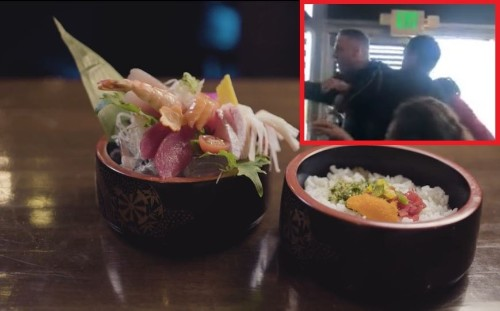Man Gets Punched in the Face After Hurling Racist Slurs at Long Beach Sushi Restaurant