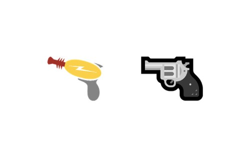 Microsoft replaced its toy gun emoji with a real revolver