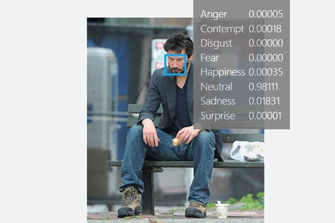 Microsoft thinks Sad Keanu is only 0.01831 sad