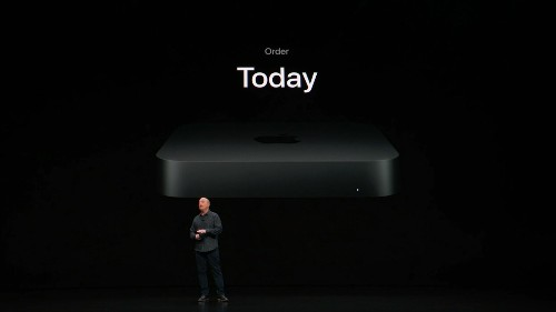 Apple's new Mac mini includes six-core processors and a space gray finish