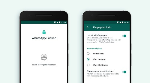WhatsApp's fingerprint unlock feature is now on Android