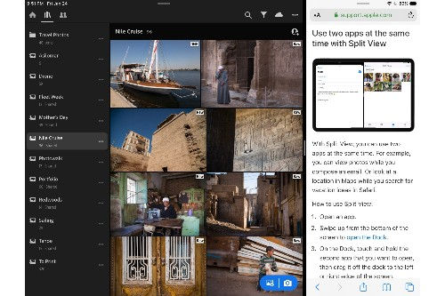Lightroom now supports split-screen multitasking on the iPad