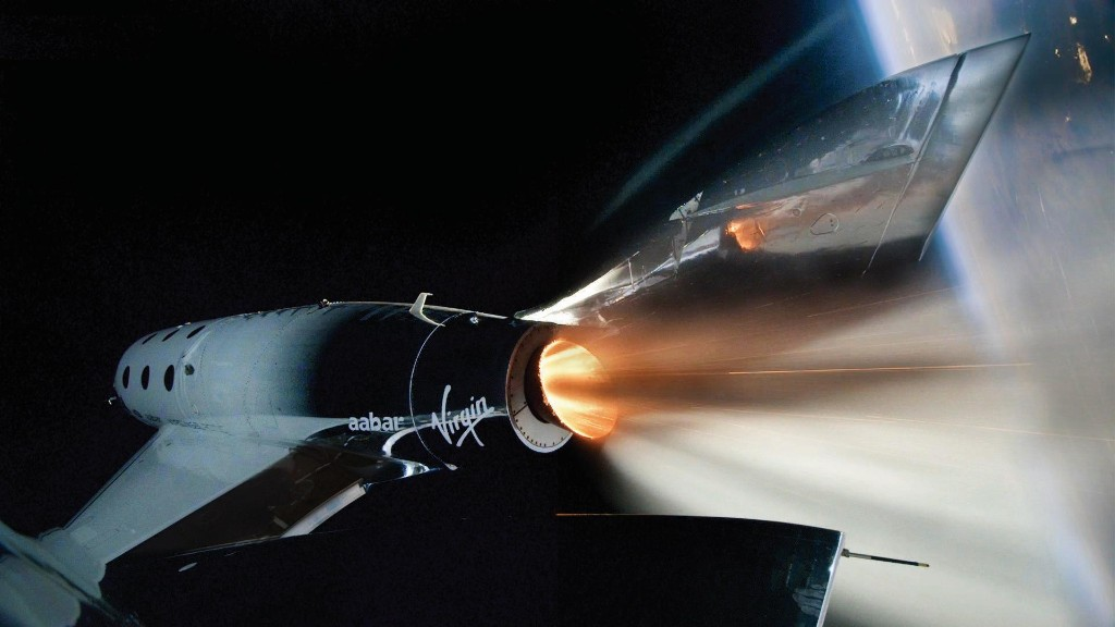 Virgin Galactic spaceplane reaches space with first passenger on board