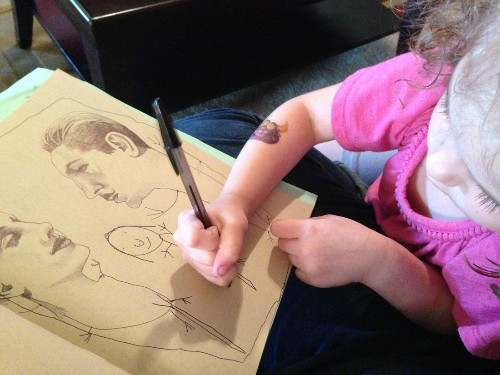 Beautiful collaborative artwork from illustrator and her 4-year-old daughter
