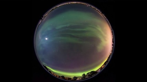 Experience an aurora borealis in your browser with this stunning panorama