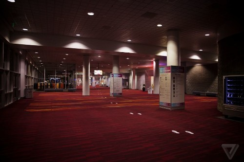 CES at night: alone inside a massive trade show