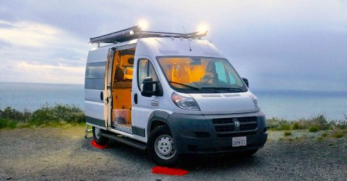Affordable camper van comes with a rooftop deck