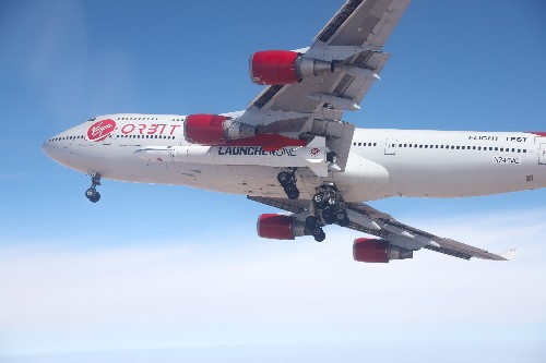 Virgin Orbit's rocket flies strapped to the wing of an airplane for the first time
