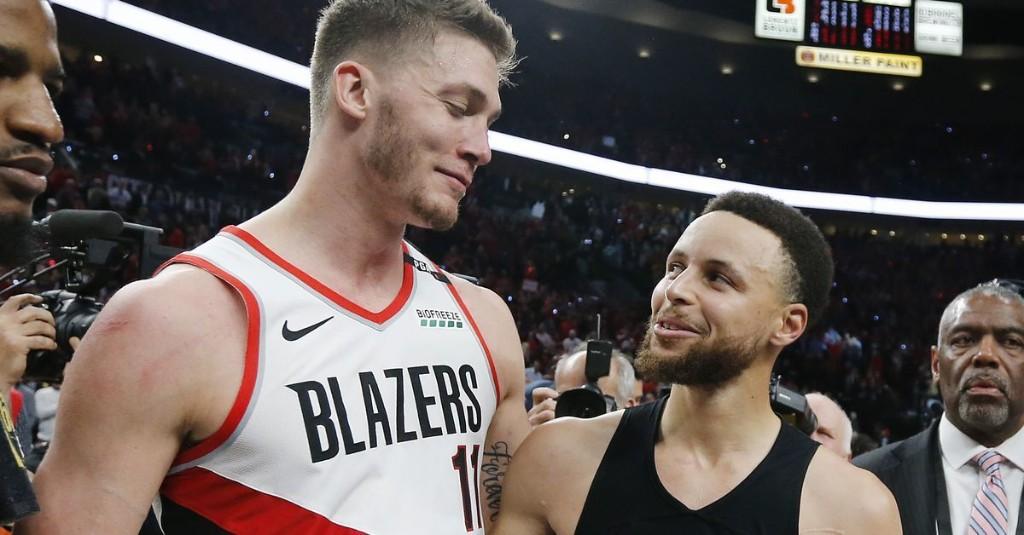 That Blazers-Warriors series was drunk