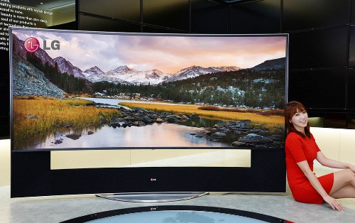 105-inch curved Ultra HD televisions announced by both Samsung and LG
